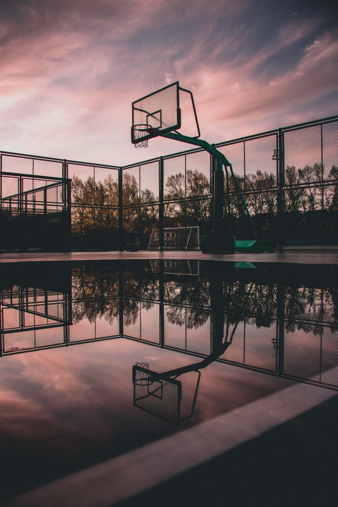 gaashekwerk basketbalveld
