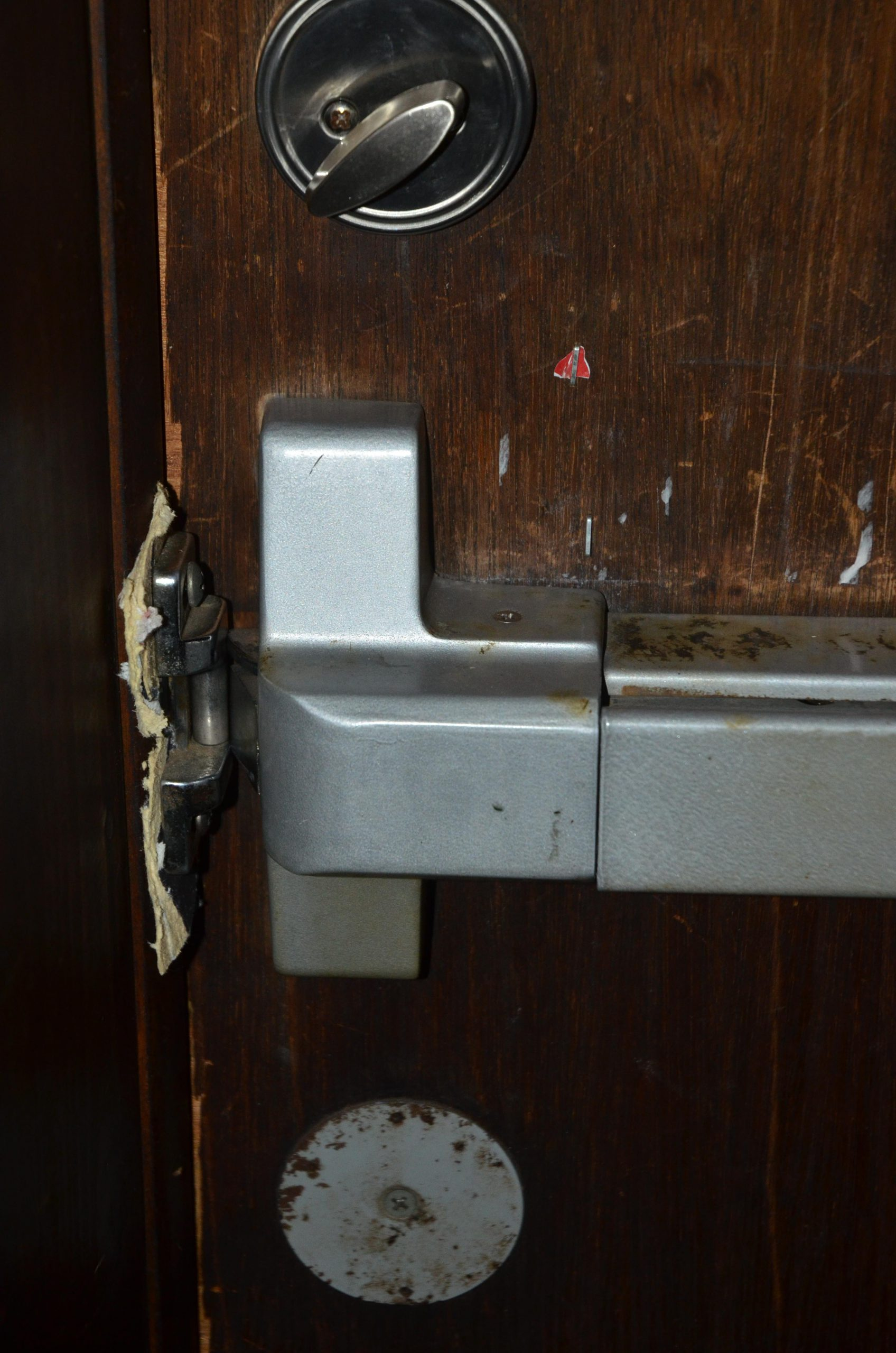 slot deur hout