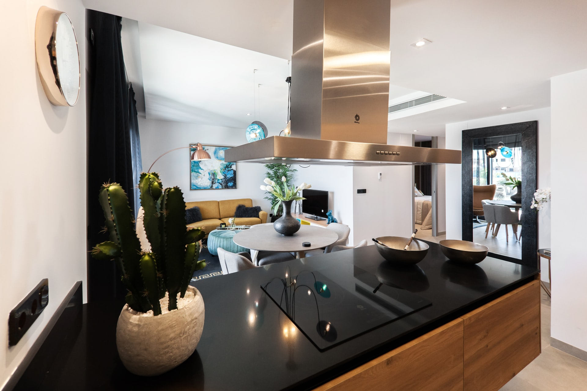 design keuken met zwart tafelblad