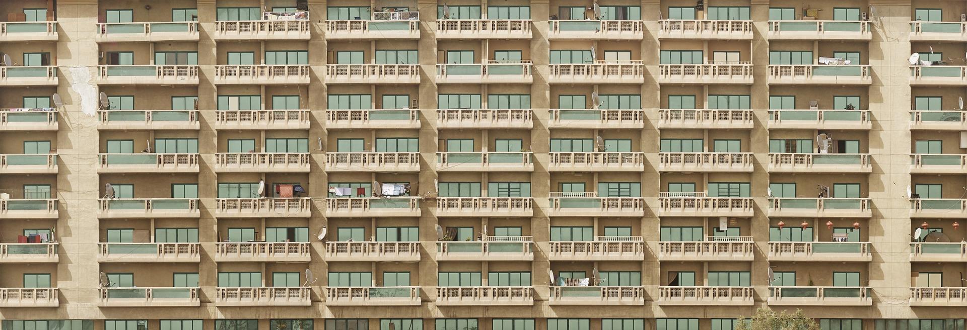 appartementen met balkons